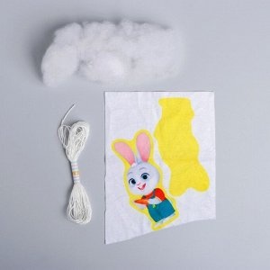 Набор для творчества «Игрушка из плюша», Зайчик с морковкой