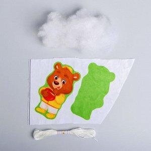 Набор для творчества «Игрушка из плюша», Мишка с мёдом