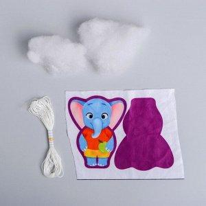 Набор для творчества «Игрушка из плюша», Слонёнок с яблоком