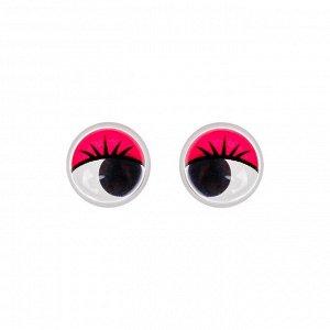 Глазки набор 100 шт, размер 1 шт: 1 см, цвета красный