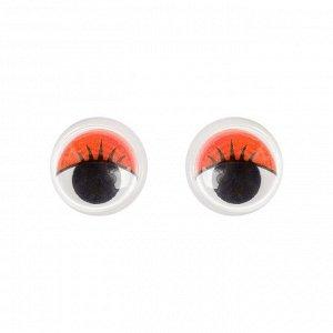 Глазки набор 100 шт, размер 1 шт: 1,2 см, цвета красный
