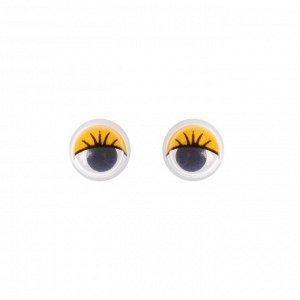 Глазки набор 100 шт, размер 1 шт: 0,8 см, цвета жёлтый