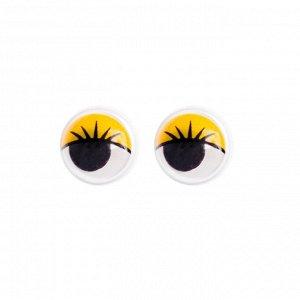 Глазки набор 100 шт, размер 1 шт: 1 см, цвет жёлтый