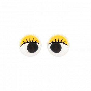 Глазки набор 100 шт, размер 1 шт: 1,2 см, цвет жёлтый