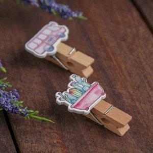 Прищепки декоративные «Розовый Микс» набор 10 шт.