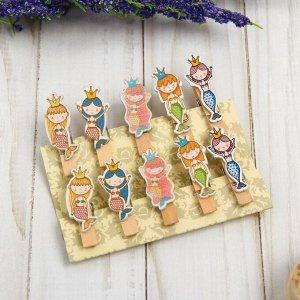 Набор декоративных прищепок «Русалки» набор 10 шт.