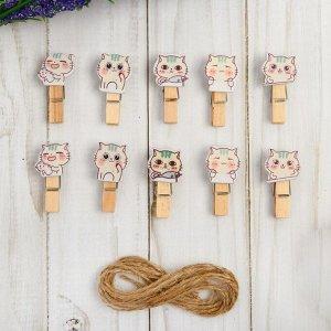 Набор декоративных прищепок «Котята» набор 10 шт.