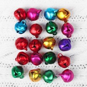 Бубенчики, набор 20 шт, размер 1 шт: 0,8 см, цвета МИКС