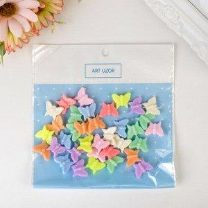 """Набор бусин для творчества пластик """"Бабочки. Пастельные тона"""" набор 41 шт 15 гр 1,3х1,5 см"""