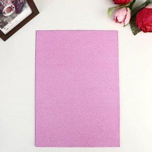 """Бумага  плотность 80 гр """"Блеск светло-розовый"""" набор 10 листов формат А4"""