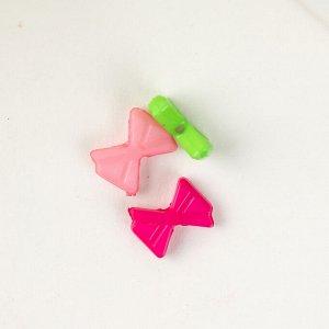"""Набор бусин для творчества пластик """"Яркие бантики"""" набор 120 шт 0,2х1х0,7 см"""
