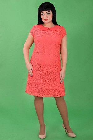 Коралловый Примечание:замеры длин соответствуют размеру 54 Длина платья:99 см Длина рукава:12 см Подкладка:есть Застежка:потайная молния сзади Декор:нет Состав:полиэстер 95%, спандекс 5% Ткань: