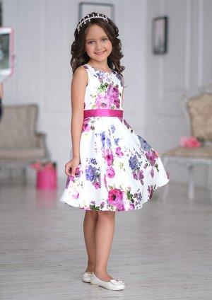 Афина нарядное платье белый