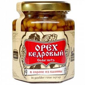 Ядро кедрового ореха в сиропе из калины 220 г Сибирский Знахарь