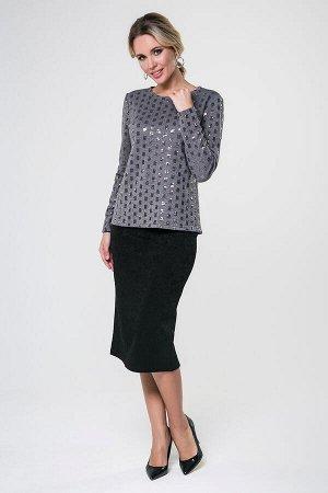 Блузка Тая №21 (пайетки).Цвет:серый