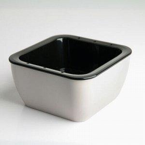 Кашпо квадратное «Глянец» 16?16?8 см, цвет чёрно-белый