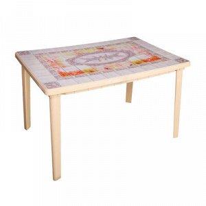 Стол «Верона» прямоугольный, размер 120 х 85 х 75 см, цвет бежевый