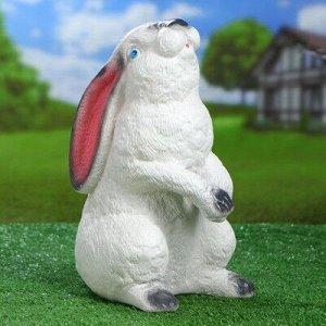 """Садовая фигура """"Сидящий заяц"""", белый цвет, 30 см"""