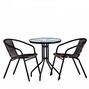 Набор мебели садовой, 1 стол (60*60*70 см) 2 кресла (50*50*70 см) МИКС