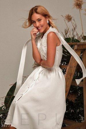 Романтичное шелковое платье