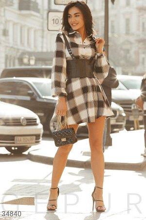 Повседневное платье-рубашка