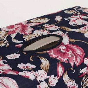 """Чехол для чемодана 20"""", цвет синий/розовый"""
