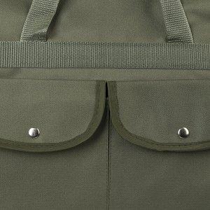 Сумка хозяйственная, отдел на молнии, 2 наружных кармана, цвет хаки