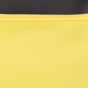 Сумка спортивная, отдел на молнии, наружный карман, цвет чёрный/жёлтый
