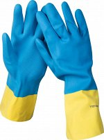 Перчатки STAYER латексные с неопреновым покрытием