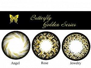 Перекрывающие цветные контактные линзы Офтальмикс Butterfly GOLD (Polytouch) (2 линзы)