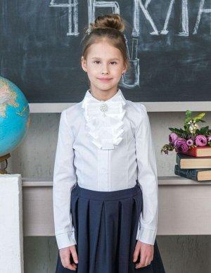 Школьная блузка с белым бантом