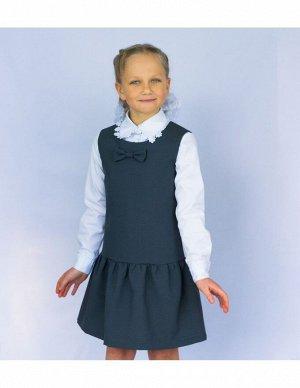 Школьный сарафан Тюльпан серый