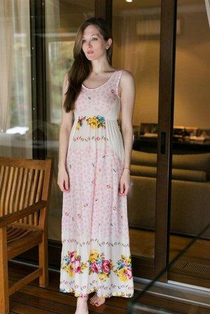 Платье 348 цвет Бежевый
