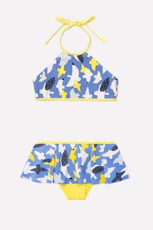 Купальник(Весна-Лето)+girls (голубой сапфир, чайки)