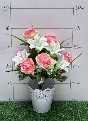 """Букет цветов """"Розы и лилии"""" SF-5054, в ассортименте"""