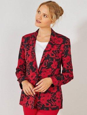 Легкая куртка с цветочным рисунком