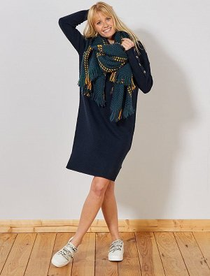 Платье-джемпер из трикотажа оттоман