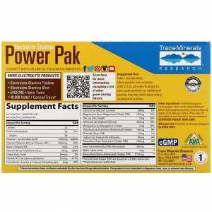 Trace Minerals Research, Electrolyte Stamina Power Pak, Pineapple Coconut, 30 Packets, 0.22 oz (6.1 g) Each