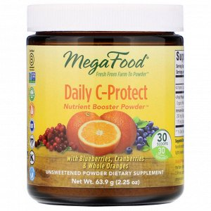 MegaFood, Daily C-Protect, Nutrient Booster Powder, Unsweetened, 2.25 oz (63.9 g)