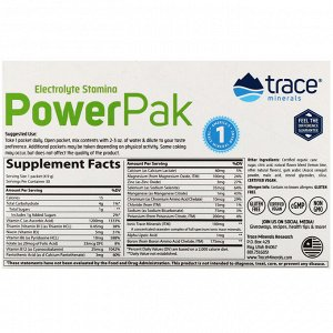 Trace Minerals Research, Electrolyte Stamina PowerPak, Lemon Lime, 30 Packets, 0.17 oz (4.9 g) Each