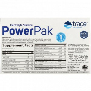 Trace Minerals Research, Electrolyte Stamina PowerPak, Pomegranate Blueberry, 30 Packets, 0.18 oz (5 g) Each
