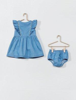 Комплект из платья и трусиков из джинсовой ткани