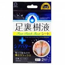 Шлаковыводящий пластырь с маслом дерева ши Foot Patch Sheet, KOKUBO Япония 1 пара