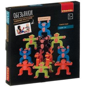 Развивающие игры из дерева Bondibon Игра-балансир «ОБЕЗЬЯНКИ», BOX