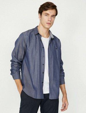 рубашка Материал: %65 Хлопок, %35 Полиэстер Параметры модели: рост: 189 cm,грудь: 99,талия: 75,бедра: 99 Надет размер: M