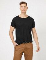 Черная футболка фирмы look54