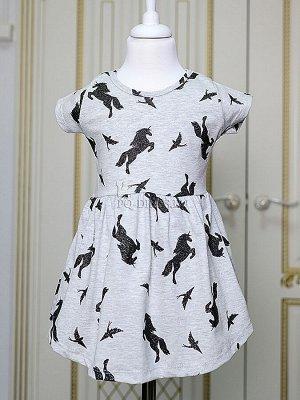 Платье Хлопковый тонкий трикотаж с лайкрой, ткань тянется. Без застежек.  Размеры:  1-2 (86-92)см  3-4(98-104см)  5-6(110-116см) 7-8 (122-128см)