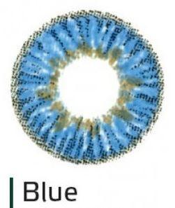 Перекрывающие цветные контактные линзы HERA ELEGANCE Blue -5.0 ВС 8.6 (2 линзы)