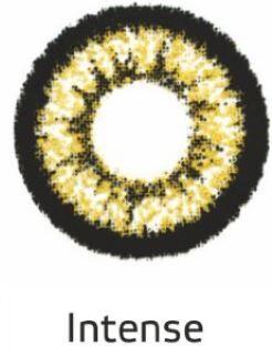Декоративные цветные контактные линзы HERA GOLD Intense -0.0 ВС 8.6 (2 линзы)