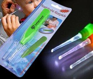 Палочка для чистки ушей с LED подсветкой